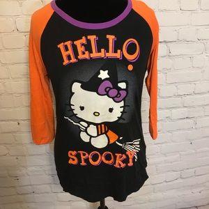 """Hello Kitty """"Hello Spooky' Halloween Tee Shirt"""